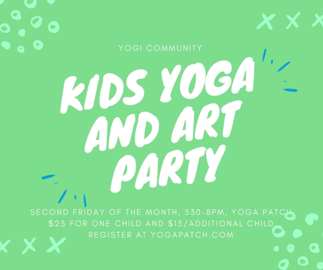 kids yoga and art party